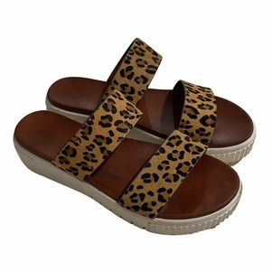 Altar'd State Iana Leopard Print Leather Sandals 10